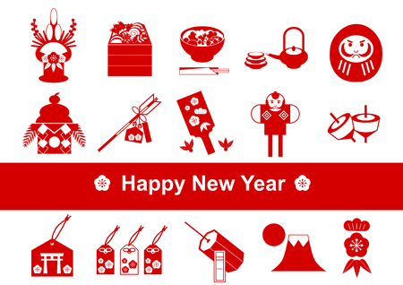 Japanese culture of New Year holidays Icon