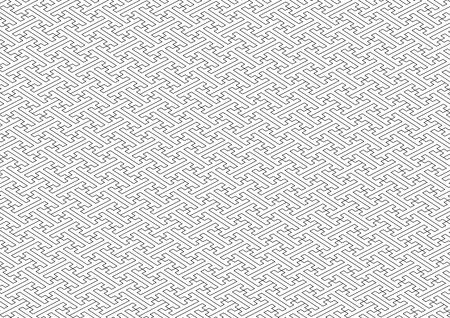 consecutive: Saaya-shaped pattern black and white Illustration