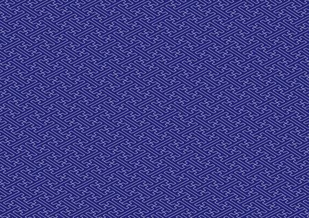 Saaya-shaped pattern blue