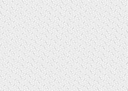 transom: Saaya-shaped pattern black and white Illustration