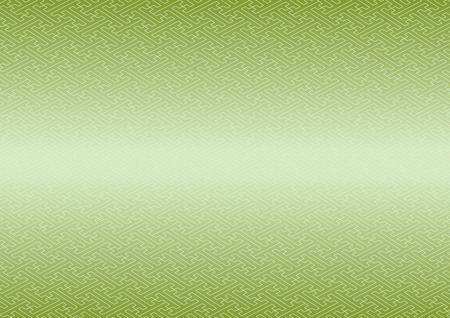 consecutive: Saaya-shaped pattern green