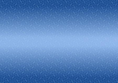 consecutive: Saaya-shaped pattern blue