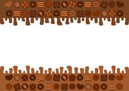 fodder: Illustration of the melting chocolate Illustration