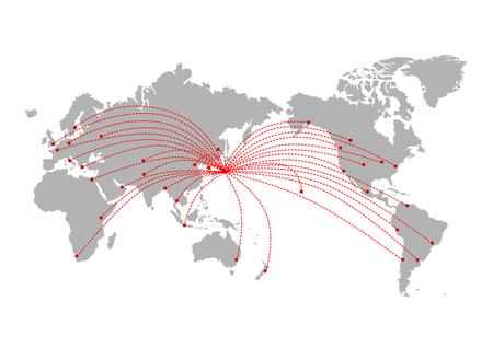 World mapGlobal Stock Illustratie