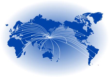 World mapGlobal  イラスト・ベクター素材