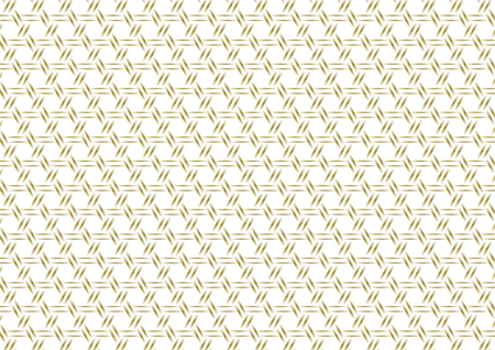 lucky bamboo: Kagome pattern gold