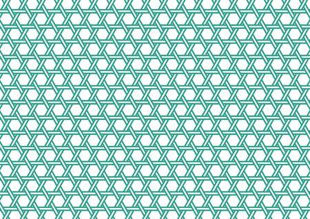 Kagome pattern green Vektorové ilustrace