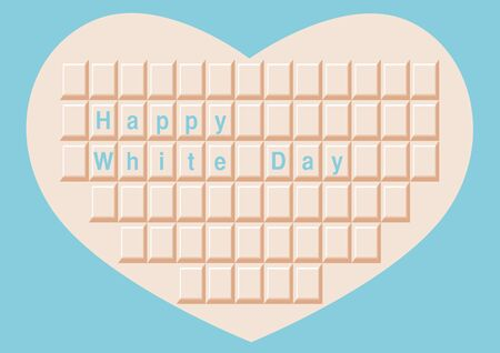 on white: White day and White chocolate Illustration