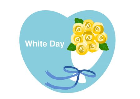 acknowledgment: White day Heart and Rose