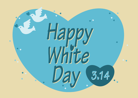 White day Heart and Dove