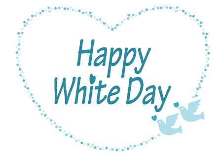 white day: White day Heart and Dove