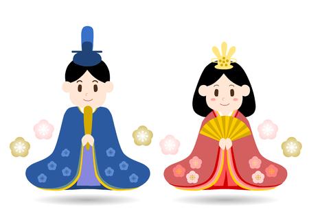 Illustration of Hinamatsuri Doll's Festival