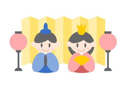 fodder: Illustration of Hinamatsuri Dolls Festival
