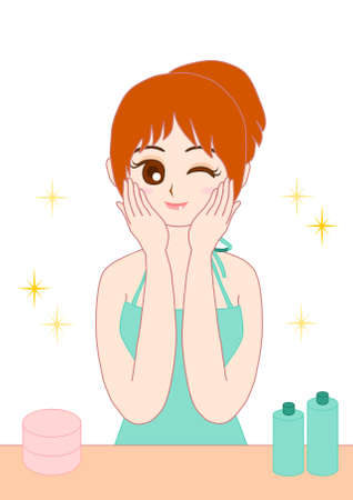 bust up: Skincare Woman