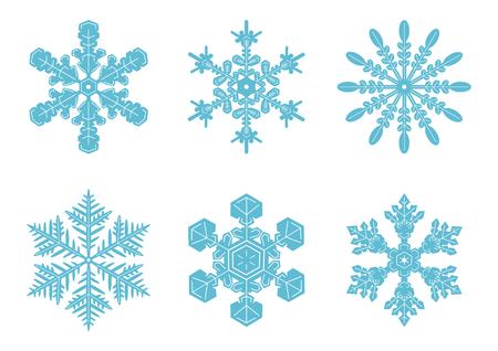 snowy: Snowy crystal background illustration Illustration