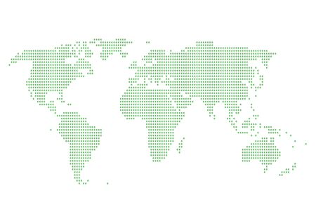 cyberspace: World map of green