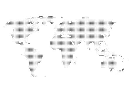 World map of dot