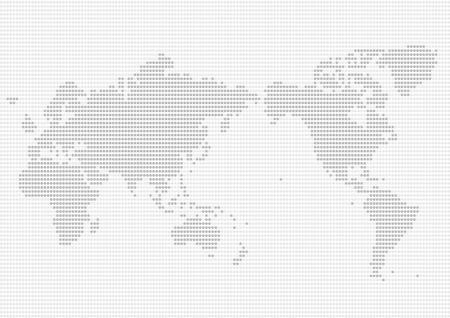 World map of gray