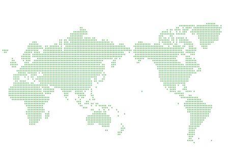 overseas: World map of green