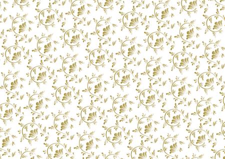 ゴールドのアラベスク デザイン