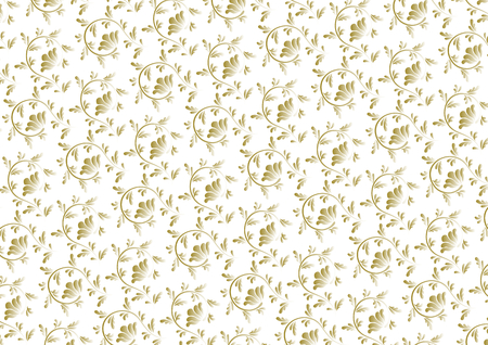 Arabesque design of gold