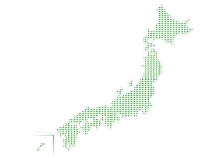 Groene Kaart van Japan Stock Illustratie