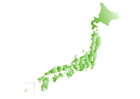 shikoku: Map of Japan Illustration