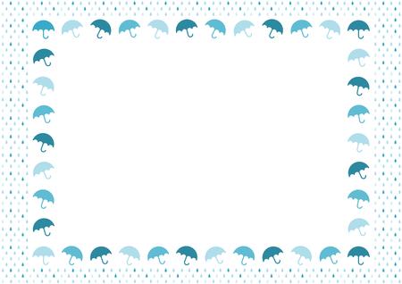 Rain and umbrella Background illustration