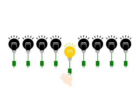 led light bulb: Light bulb and Ecology Illustration