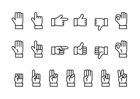Icon of Hand Illustration