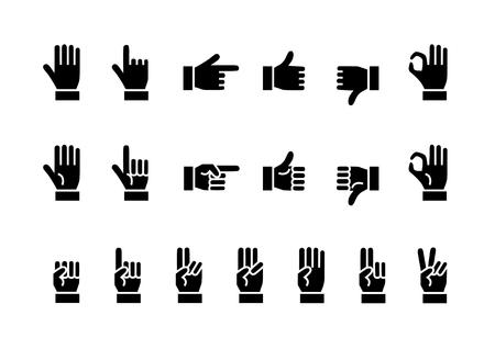 Icono de la mano Negro Foto de archivo - 56663635