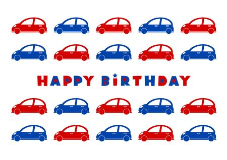 fodder: HAPPY BIRTHDAY and Illustration of cars