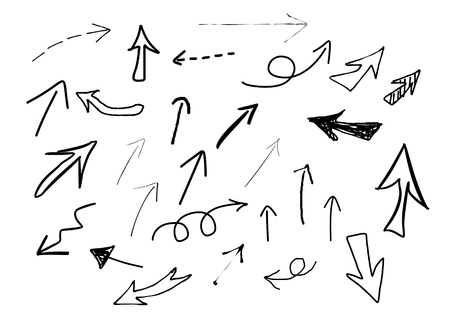 freehand drawing: Arrows of the freehand drawing Illustration