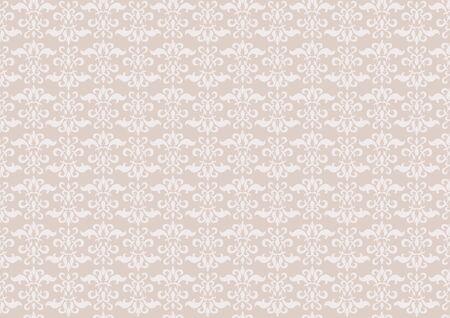 アラベスク デザイン ベージュ
