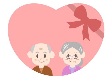 old couple: Heart of the old couple celebration