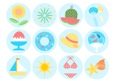 wind chime: Icon of summer image Illustration