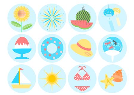 watermelon boat: Icon of summer image Illustration