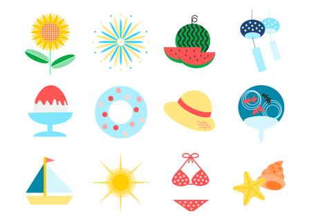 Icon of summer image Illustration