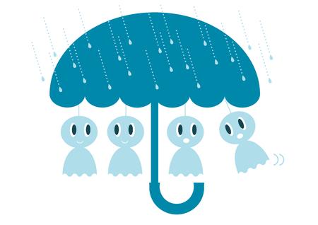 Regenachtig seizoen illustratie Stock Illustratie