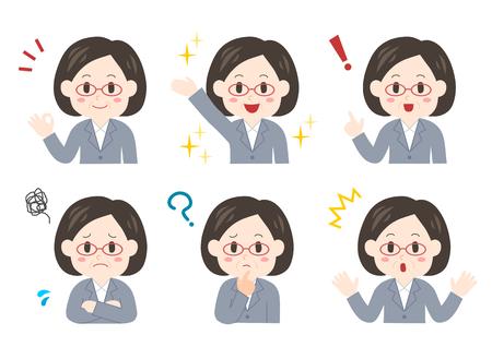 Expressie en stelt van middelbare leeftijd zakenvrouw
