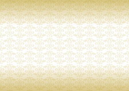 アラベスク デザインのゴールドのグラデーション