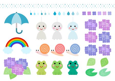 rainy season: Icon of rainy season