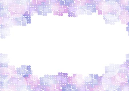 brightness: Frame of hydrangeas and brightness