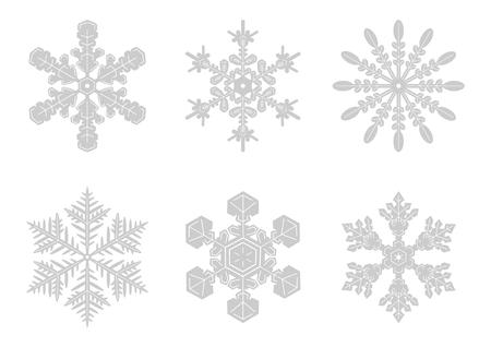 Snowy crystal background illustration Stock Illustratie