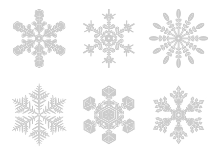 pitiful: Snowy crystal background illustration Illustration