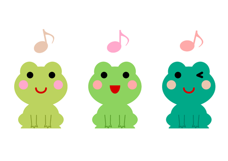 plural: Frogs and musical notes