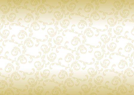 ゴールドのグラデーションの唐草  イラスト・ベクター素材