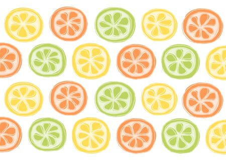grapefruit: Lemon, Lime, Orange, Grapefruit Illustration