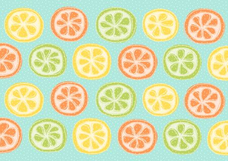 lemon lime: Lemon, Lime, Orange, Grapefruit Illustration