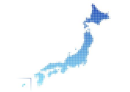 nationwide: Map of Japan Dot pattern